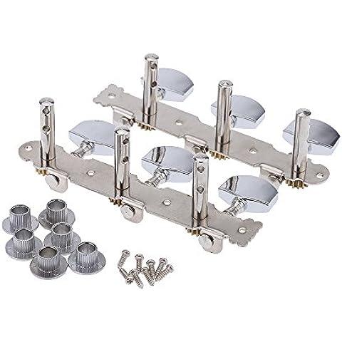 Mylunn (TM) (2 pezzi), sinistra, destra, in acciaio, Tuner Classical Guitar chiavi di accordatura Pegs, tema: Machine Head-Accordatore per chitarra
