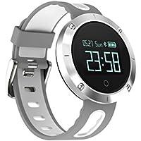 """Bracelet d'activité avec écran tactile OLED de 0,95"""" YuStar - Bluetooth 4.0 - Étanchéité IP67 - Analyse de la fréquence cardiaque et de la tension artérielle, podomètre, suivi du sommeil, suivi GPS via l'application, alerte en cas de notification, mode vélo"""