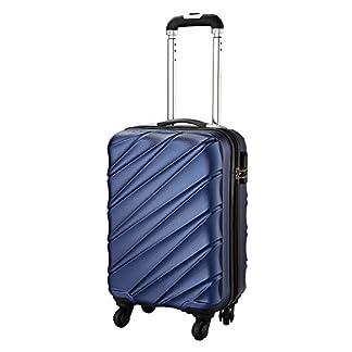 Maleta de equipaje de mano de cabina con 4 ruedas para Cabina Max Toscana Super Ligera 2.4kg ABS funda dura, aprobado para Ryanair, Easyjet, British Airways y muchos más