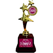 Yaya Cafe Mother Birthday Hearts Best Mom in The World Mom Trophy - Star