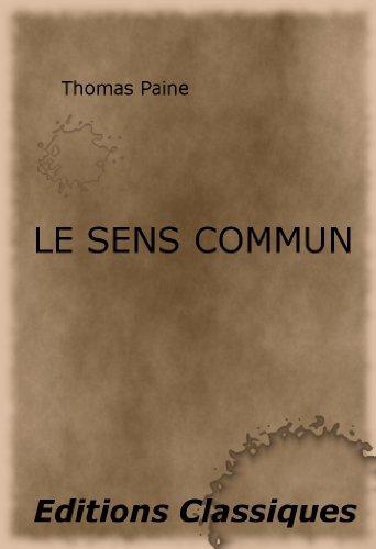 Le sens commun par Thomas Paine, F. Lanthenas