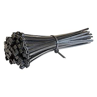 EUROLOK Cable Ties 300mm x 4.8mm Black - Pack of 100 - UK Manufactured