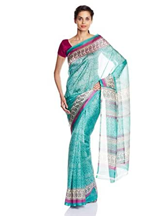 Boondh Polyester  Saree with Blouse Piece