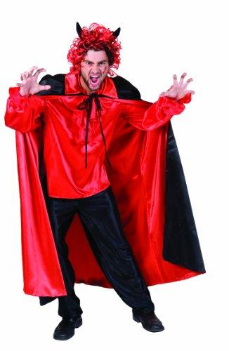 Funny Fashion 604035 - Dracula Cape, Nylon rot/schwarz, Größe (Reversible Cape Nylon)