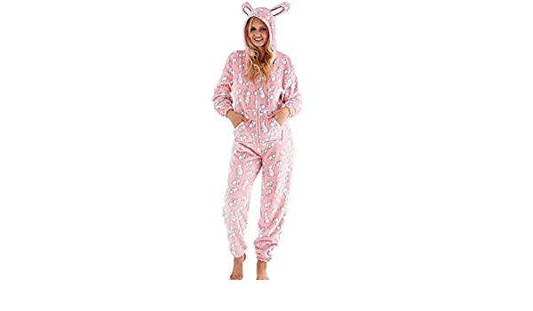 Ladies Heart//Spot Fleece Pyjamas//Poncho Hood Lounger Pyjama Top Robe Size 10-20