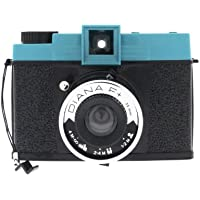 Lomography Diana F+ Compact film camera 120 mm Negro, Azul - Cámara (Compact film camera, 120 mm, Auto, 1 m, Negro, Azul)