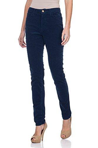 Oranjeans - Slim fit 5 tasca dei pantaloni di velluto a coste e vita alta