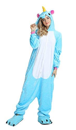 blauer Einhorn Pyjama verschiedene Motive