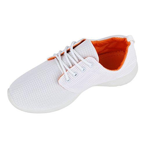 Scarpe Sportive Da Donna Di Grandi Dimensioni Colori Alla Moda Scarpe Da Ginnastica Scarpe Da Corsa Scarpe Da Ginnastica Fitness Flandell Bianco Arancio Bianco