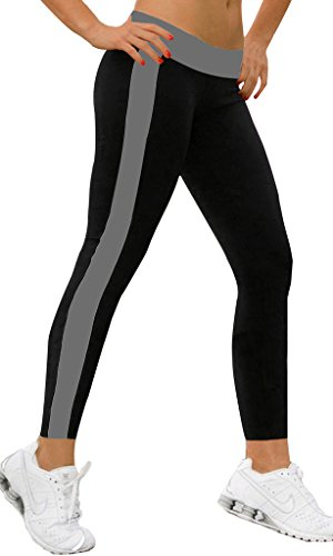 Cord-stretch-leggings (iLoveSIA Jogging Damen Hose Sport Schwarz/Grau Stretch Leggings Lange Strumpfhosen Jogginghose,L)