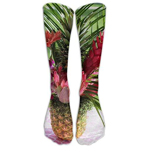 Not afraid Red Pineapple Blossom Unisex 3D Printed Long Length Socks 50CM - Pineapple Blossom