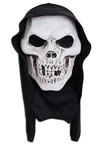 Mr.Giggelz Halloween Totenkopf weiße Maske