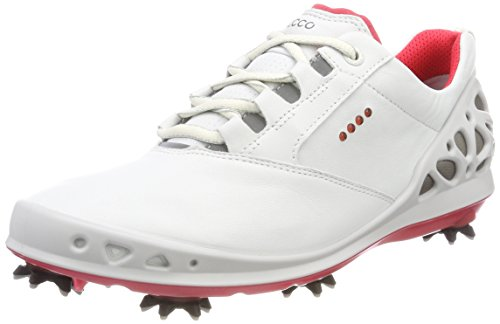 Ecco Womens Cage GTX, Chaussures de Golf Femme, Blanc (White/Teaberry 58365), 41 EU