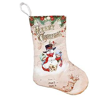 Weimay 1 UNIDS Decoraciones Navideñas de Calcetines Dulces Paño Cepillado Papá Noel Muñeco de nieve Decoración Decoración para el Hogar Regalos Bolsa-Estilo-A