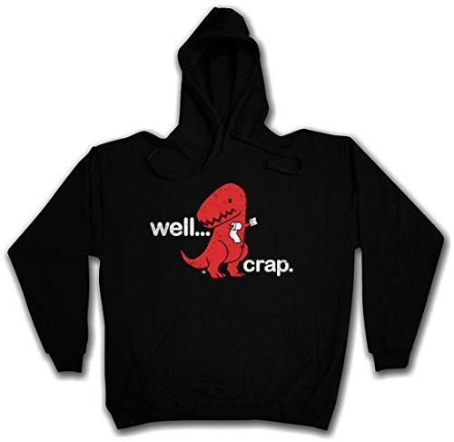 Well... Crap Hoodie Hooded Pullover Sweater Sweatshirt Maglione Felpe Con Cappucio – Taglie S – 2XL Nero