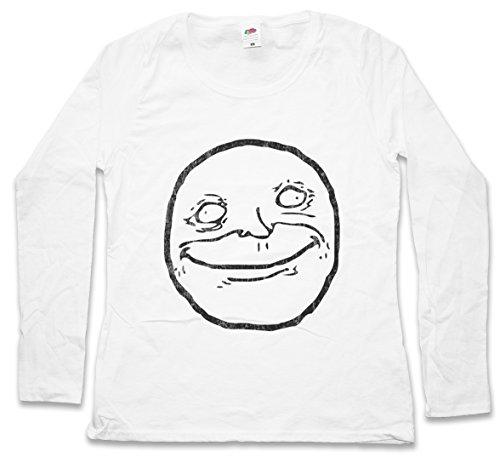 Urban Backwoods Stoned Meme Woman Donna T-Shirt A Manica Lunga – Taglie XS – 2XL Bianco