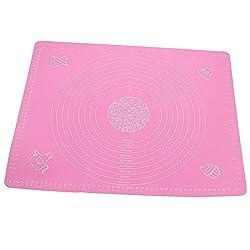 Seifenprofis® Rollmatte Backmatte XXL 65 x 45 cm (Blau/Rosa) aus Silikon - Antihaft - BPA-Frei - Rutschfest