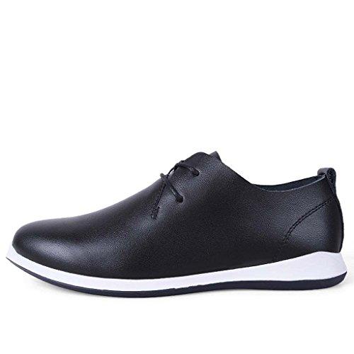 ZXCV Scarpe all'aperto Scarpe da uomo casual scarpe da slittamento traspirante morbido e traspirante scarpe bianche puro Nero