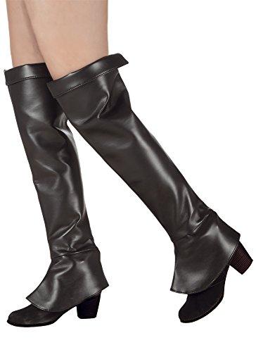 erdbeerloft - Stiefelstulpen Hunter Lady Kostüm, Schwarz (Schatz Jäger Kostüme)