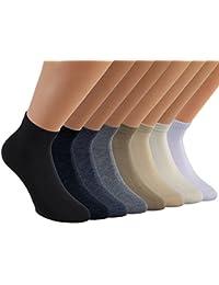 Vitasox Damen Kurzsocken Baumwolle Sneakersocken uni Damensocken ohne Naht 6er oder 12er Pack in 5 Farbvarianten