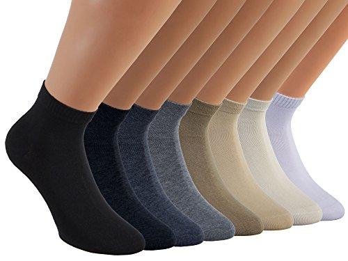 VITASOX 15268 calzini corti da donna cotone senza cuciture nero pacco da 6 35/38