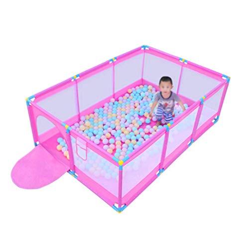 10-Panel-Baby-Laufgitter mit 200 Bällen, Safety Activity Center-Kinderspielzaun, für Indoor- und Outdoor-Spielbereich Tor -