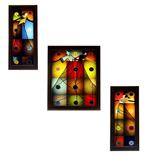 3 Piece Set of Framed Wall Hanging Art