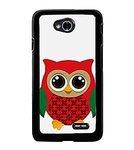 HiFi High Glossy Designer Phone Back Case Cover LG L70 :: LG L70 Dual ( Owl Art Colorful Pattern Design )