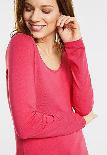 Street One Uta Mit Rundhals, Maglietta a Maniche Lunghe Donna colada pink (pink)