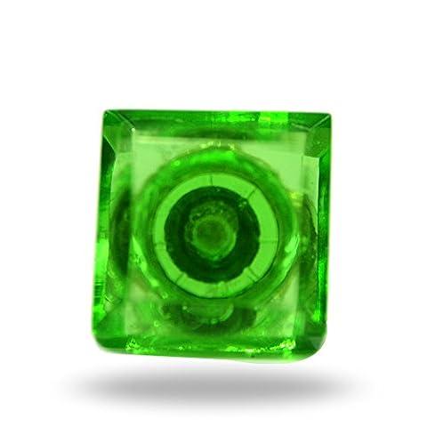 Petit carré en verre Bouton de Silvana Vert de cuisine Cabinet Porte Placard Dressser Armoire et tiroir par Trinca-ferro