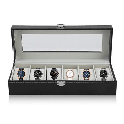 Preisvergleich Produktbild Candyboom Mode 6 Grid Schatulle Uhrenbeweger Boxen PU Leder Lagerung Uhrengehäuse Klassische Geschenk Schmuck Display Halter