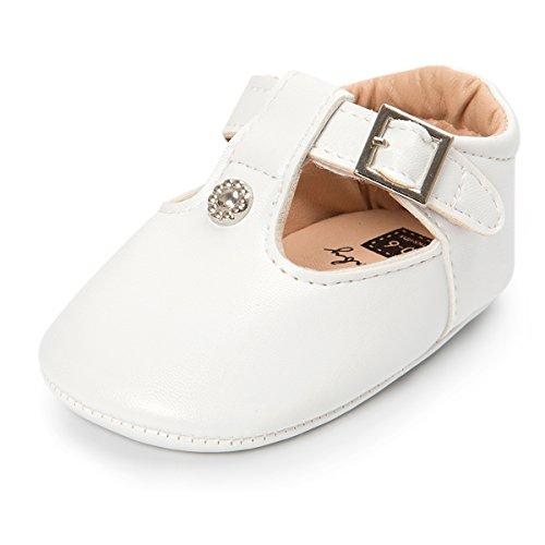 Baby Größe 4 Schuhe Weiß Mädchen (Sabe Baby Mädchen Lauflernschuhe, Weiß - Weiß - Größe: 0-6 Monate)