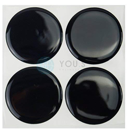 4 x Nabenkappen Aufkleber 60,0 mm Schwarz