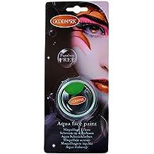 Maquillaje caracterizacion Goodmark al agua verde, 14 grs.
