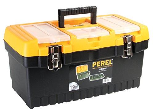 PEREL - OM19M Werkzeugkoffer mit Metallverschlüssen, 48,3 cm 144774