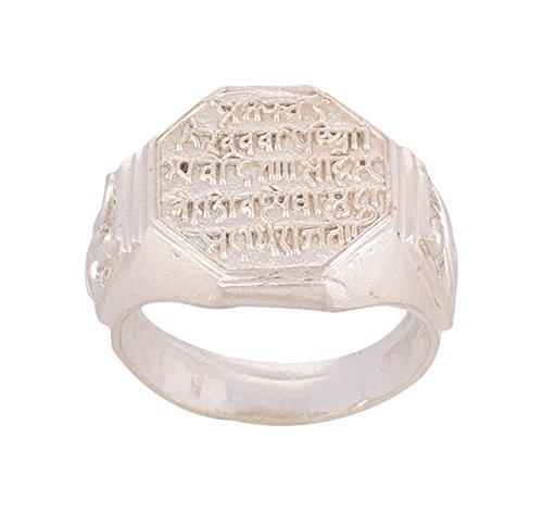 Kanak jwellers Omega Festive Silver Ring for Men (Size: 21, omg-005-R1--21)
