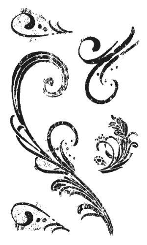 RAYHER 2870600, Silikonstempel, klar, Ornamente, 4,5-13 cm, SB-Karte