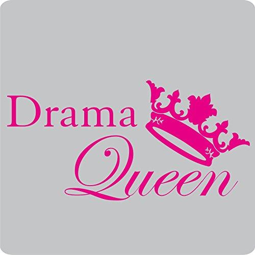 2 Drama-Queen-Aufkleber zur Dekoration von Wänden, Glasprodukten, Fliesen und allen anderen glatten Oberflächen; aus 14 Farben wählbar; Pink