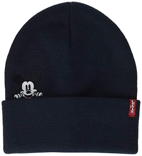 Levi's Herren Mickey Mouse Beanie Strickmütze, Blau (Navy Blue 17), One Size (Herstellergröße: UN) (Mouse Beanie Mickey)