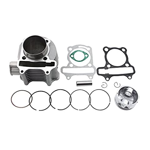 GOOFIT 57.4mm Bore Cylinder Kit with Piston for 4 Stroke GY6 150cc ATV 157QMJ Engine