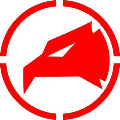 Logo militare aquila adesivo prespaziato senza fondo in vinile colore rosso lucido, 15 centimetri. personalizza auto, moto, caschi, camion, furgoni, fuoristrada e 4x4, car wrapping e tuning, barche, valige, vetri, mobili e qualsiasi altra superficie liscia.