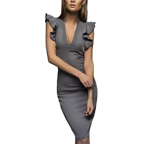 timeless design ae926 d08d5 KOLY Estate donne Abito senza maniche da lavoro casual slim ...