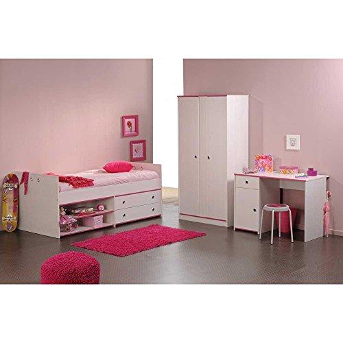 Komplettes Jugendzimmer Bett Schrank Schreibtisch Clarence Pharao24