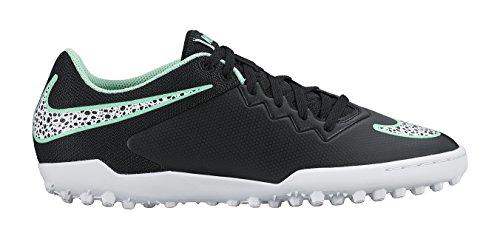 Nike Herren Hypervenomx Pro Tf Fußballschuhe Black (Black/White/Green Glow/Green Glow)