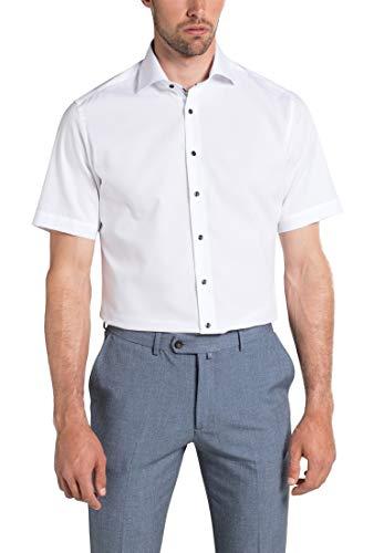 eterna Herren Hemd Modern Fit Kurzarm Weiss (10) 46 - Herren-cutaway-kragen-shirt