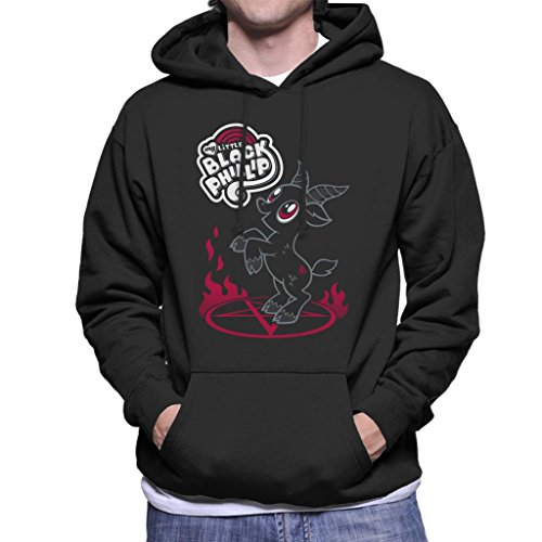 Cloud City 7 The Witch My Little Black Phillip Pony Mix Men's Hooded Sweatshirt (My Pony-horror-spiele Little)