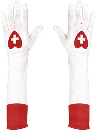 Widmann 02423 - lange Handschuhe weiߟ, für Krankenschwester
