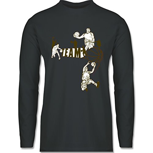 Basketball - Basketball Team - Longsleeve / langärmeliges T-Shirt für Herren Anthrazit