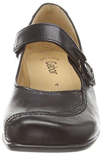 couro Sapatos Camente Meio Preto Gabor preto Mulheres Jane Mary 0q0STr