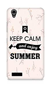 Amez Keey Calm and Enjoy Summer Back Cover For Lenovo A3900